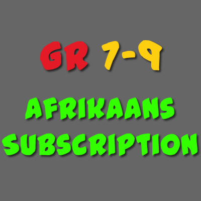 Afrikaans Subscription Grade 7-9