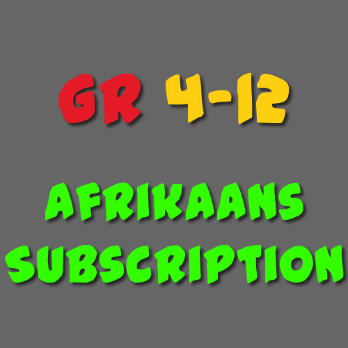 Afrikaans Subscription Gr 4 - 12