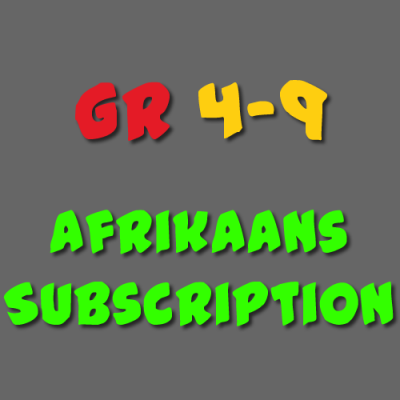 Afrikaans Subscription Grade 4 - 9