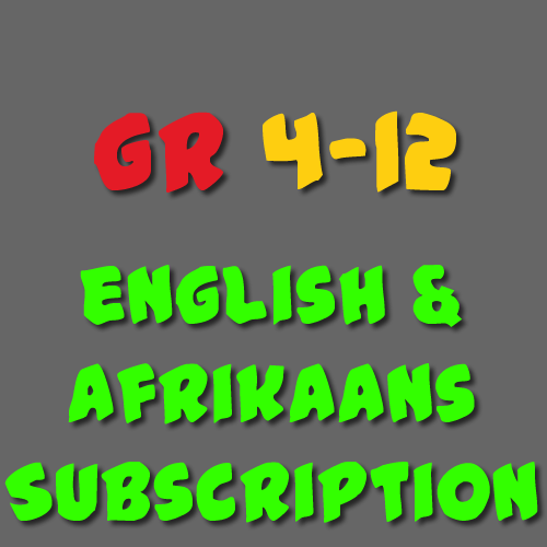 English & Afrikaans Subscription Grade 4-12
