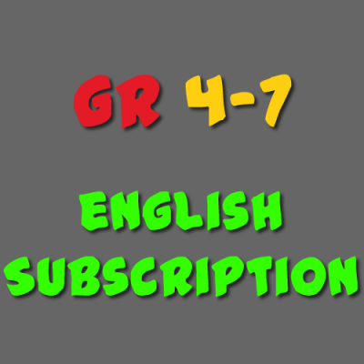 English Subscription Grade 4 - 7