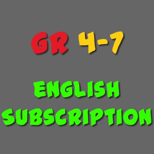 English Subscription Grade 4 - 7