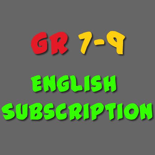 English Subscription Grade 7 - 9
