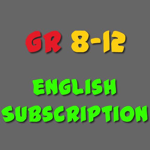 English Subscription Grade 8 - 12