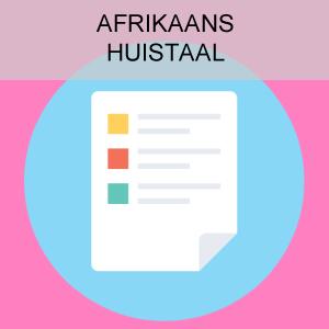 Afrikaans Huistaal
